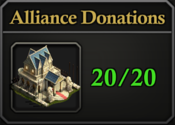 Daily Activity Points - Alliance Donations.