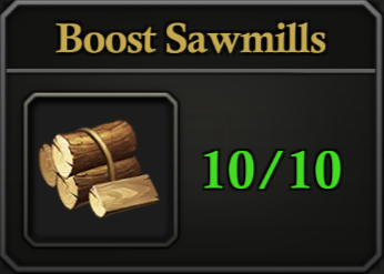 Daily Activity Points - Boost Sawmills.