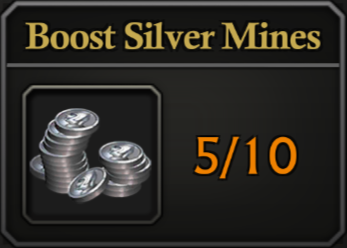 Daily Activity Points - Boost Silver mines.