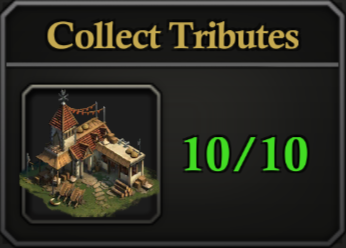 Daily Activity Points 'Collect Tributes' progress counter badge.