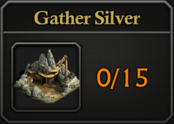 Daily Activity Points - Gather Silver.