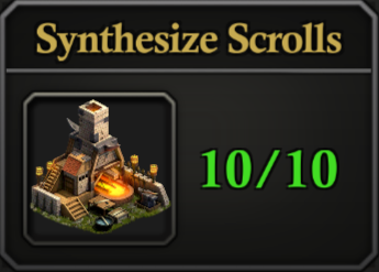 Daily Activity Points - Synthesize Scrolls.