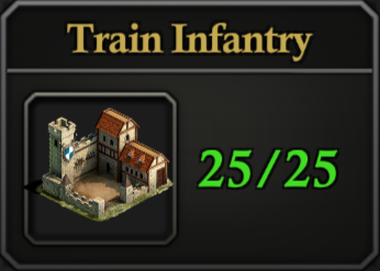 Daily Activity Points - Train Infantry.