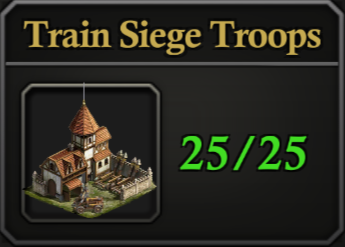 Daily Activity Points - Train Siege Troops.