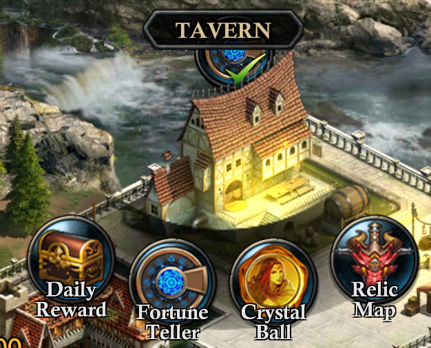 Tavern with opened interface