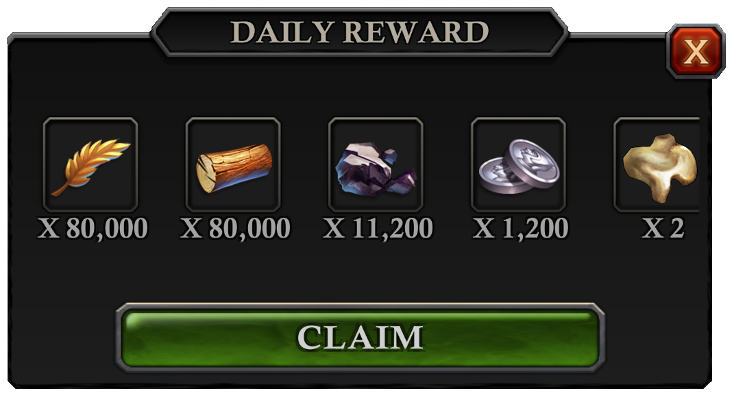 Daily Reward - Collect Daily Reward Chest interface