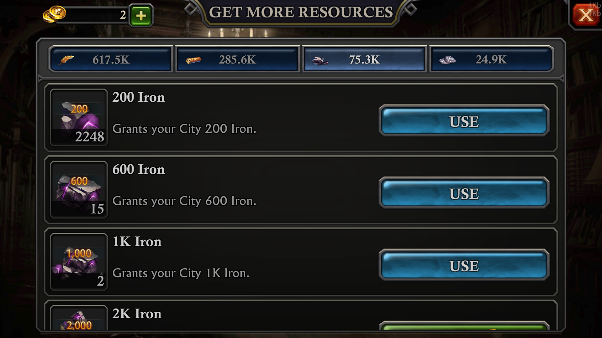 Iron Ore resource items